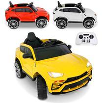 Carrinho Elétrico Infantil Tipo Lamborghini 2 Portas Com Controle Remoto 12V Entrada USB AUX SD MP3 - Iw