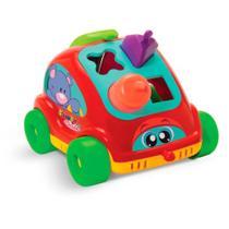 Carrinho Encaixe as Formas Com Telefone Educativo Rodas Livres Vermelho Gulliver Baby - 5140 - Guliver