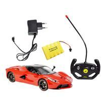Carrinho Ferrari Controle Remoto C/ Bateria Recarregável - DMT4327 - Dm Toys