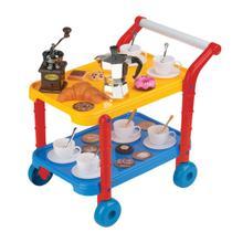 Carrinho Gourmet Infantil Cafeteria Fênix Com Acessórios - Fenix Brinquedos