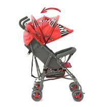 Carrinho Guarda Chuva Bebê Vermelho Star Baby -