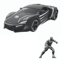 Carrinho Hollywood Rides Lykan Hypersport Black Panther - Dtc