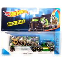 Carrinho Hot Wheels - Track Stars - Speed Fleet Green - Mattel