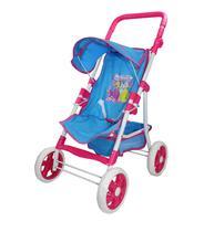 Carrinho Luxo Premium Shine Princess Para Boneca Brinquedo Reborn Azul Turquesa -