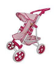 Carrinho Luxo Premium Shine Princess Para Boneca Brinquedo Reborn Rosa Bebê - Horizonte