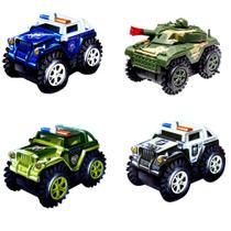 Carrinho Maluco Cambalhota Jeep Carrinho Bate E Volta Carro infantil - Kit com 4 - Flix Mobile