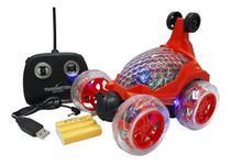 Carrinho Maluco Controle Total Crazy Bateria Recarregável  Gira 360  Com Luz e Som - Dm toys
