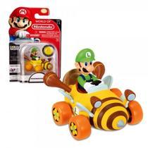 Carrinho Mario Kart Coin Racers Luigi - Dtc -