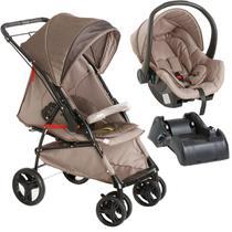 Carrinho Para Bebê Até 15Kg Maranello 2 em 1 + Bebê Conforto + Base Galzerano -