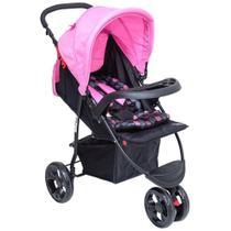 Carrinho Para Bebê Triciclo Urban Baby Style - Rosa -