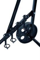 Carrinho para motor de popa 2 rodas com porta remo e varas - Riomar
