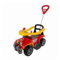 Carrinho Passeio Com Haste Criança Jip Jip Bombeiro - Maral Brinquedos