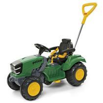 Carrinho Passeio Mini Trator Infantil Empurrador ou Pedal - Poliplac