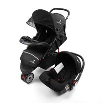 Carrinho Safety Triciclo + Bebê Conforto 3 em 1 Preto Color Baby -