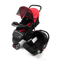 Carrinho Safety Triciclo + Bebê Conforto 3 em 1 Vermelho Color Baby -
