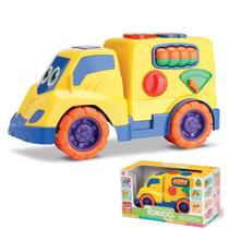 Carrinho Tchuco Encaixes Brinquedo Bebês Educativo Pedagógico - Samba Toys