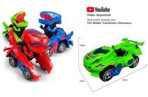 Carrinho Transformers Dinossauro Tiranossauro Bate e Volta com Sons Luz - Verde - Barcelona