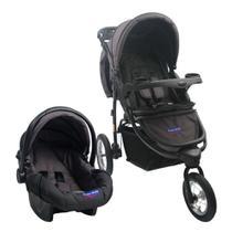Carrinho Travel System Prime Baby Triciclo Velloz - Cinza - Abra Cadabra