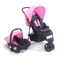 Carrinho travel system Urban Rosa - Baby Style