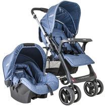 Carrinho Travel System Zap Reversível + Bebê Conforto Azul Kiddo -