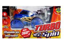 Carrinho Turbo Spin Com Controle Remoto Azul - DTC -