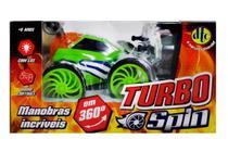Carrinho Turbo Spin Com Controle Remoto Verde - DTC -