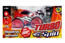 Carrinho Turbo Spin Com Controle Remoto Vermelho - DTC -