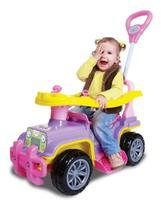 Carrinho Veículo De Passeio Para Bebê Maral Jip Jip Menina Com Empurrador -