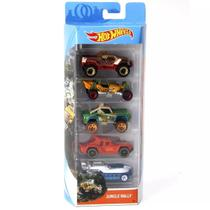 Carrinhos Hot Wheels Pacote com 5 Carros Jungle Rally Fkt54 - Mattel