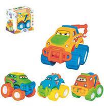 Carro Baby Car Colors Brinca Bebe Roda Livre Sortidos Na Caixa - Wellmix