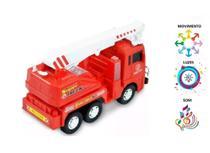 Carro Caminhão Bombeiro Caminhão Luz E Som Bate Volta - Fire Truck