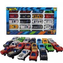 Carro Coleção De Plástico Roda Livre 20 Peças - Cores Sortidas - Ark