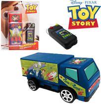 Carro com controle remoto com fio a pilha toy story - Etitoys