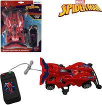 Carro com controle remoto com fio homem aranha/spider man a pilha - Etitoys