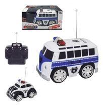 Carro com controle remoto sem fio patrulhas policia sortidas 7 funcoes a pilha na caixa wellkids - Wellmix