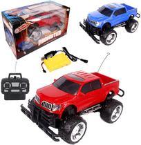 Carro Com Controle Remoto Sem Fio Pick-up Monster Colors 7 F - Wellmix