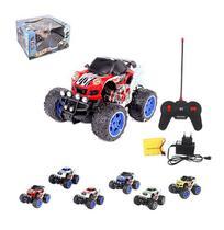 Carro com controle remoto sem fio race big car colors 7 funcoes com luz a pilha recarregavel wellkids - Wellmix