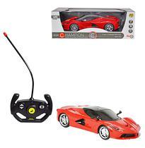Carro com controle remoto sem fio sport com luz a pilha na caixa - Wellmix