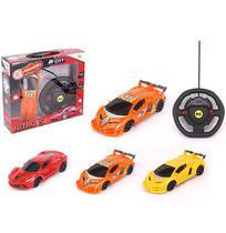 Carro com controle remoto sem fio volante nitro city colors 7 funcoes na caixa wellkids - Wellmix