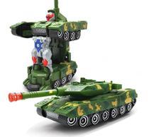 Carro Combat Vira Robô Tanque Militar Emite Som E Luz - Toy King