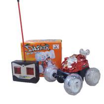Carro Controle Remoto  Dasher música luz cambalhotas 360 graus Vermelho - Yaha -