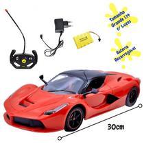 Carro Controle Remoto Grande Sem Fio Ferrari  Bateria Recarregável 1:14 - DM Toys