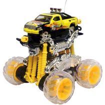 Carro de Controle Remoto - Força Gyrus Picape Monstro Amarelo - 49MHz - DTC -