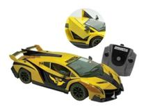 Carro de controle remoto Yellow Fox amarelo 7 funções bateria recarregável - Candide -
