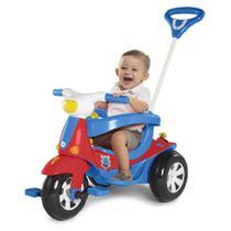 Carro de Passeio Infantil Triciclo Elétrico - Modelo 3 em 1 -  Azul - Calesita