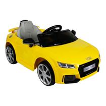 Carro eletrico audi tt rs 12v amarelo - belfix -