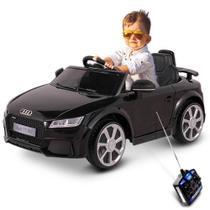 Carro eletrico audi tt rs 12v preto - belfix -
