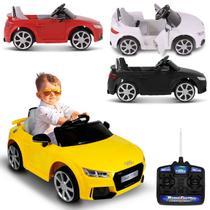 Carro Elétrico Carrinho Infantil Audi TT RS Preto Branco Vermelho Amarelo Controle Remoto MP3 2P 12V - Bel Fix