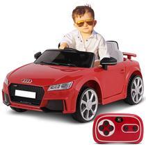 Carro Elétrico Carrinho Infantil Audi TT RS Vermelho Controle Remoto Entrada Aux MP3 12V 2 Portas - Bel Fix
