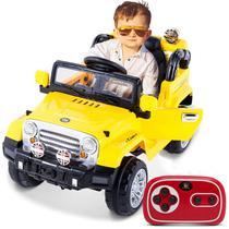 Carro Elétrico Carrinho Infantil Jipe Trilha com Controle Remoto Entrada Auxiliar MP3 12V 2 Portas - Bel Fix